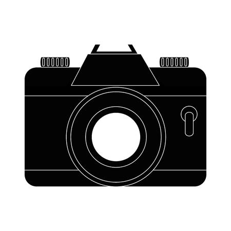 Vintage fotografische camera pictogram vector illustratie grafisch ontwerp