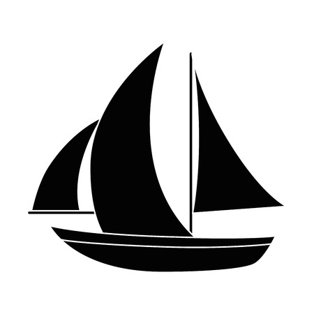 Sailboat ship isolated icon vector illustration graphic design