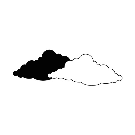 humid: Cloud weather symbol icon vector illustration graphic design