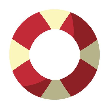 Nautische Leben Ring Icon Vektor-Illustration Grafik-Design Standard-Bild - 81727483