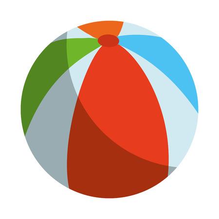 Beach ball isolated icon vector illustration graphic design