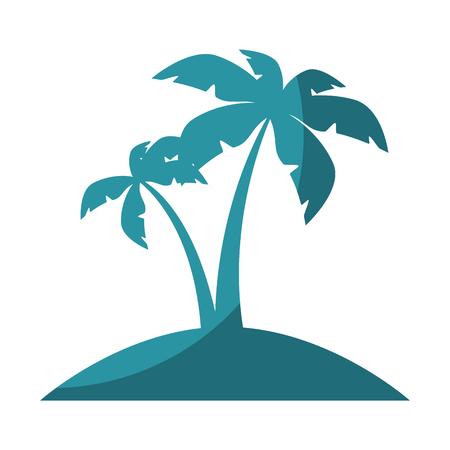 섬 나무 손바닥 아이콘 벡터 일러스트 레이 션 그래픽 디자인