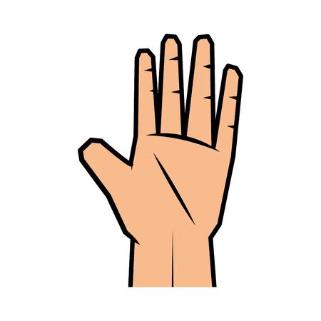 Menselijke hand icoon over witte achtergrond vector illustratie Stockfoto - 81727453