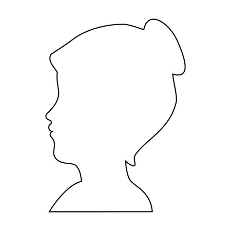 silhouette of womans head icon over white background vector illustration Reklamní fotografie - 81726105