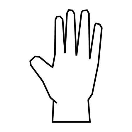 Menselijk handpictogram over witte vectorillustratie als achtergrond Stockfoto - 81725974