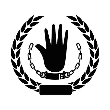 奴隷のアイコン ベクトル イラスト グラフィック デザインのチェーン 写真素材 - 81726480