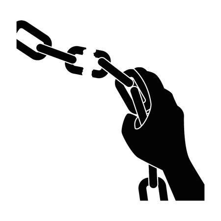 Chaîne de l'esclavage icône illustration vectorielle design graphique Banque d'images - 81726538