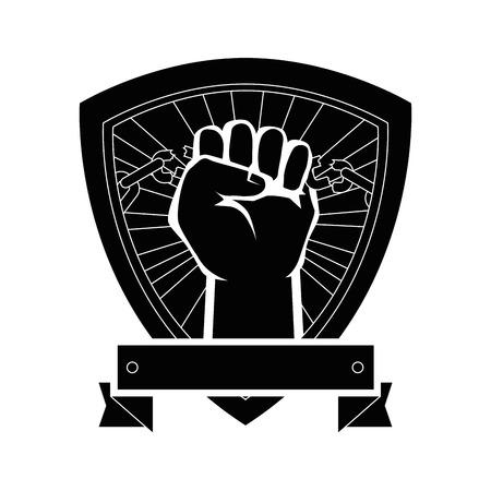 Kette der Sklaverei Icon Vektor-Illustration Grafik-Design Standard-Bild - 81726564