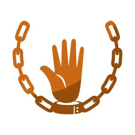Kette der Sklaverei Icon Vektor-Illustration Grafik-Design Standard-Bild - 81727117