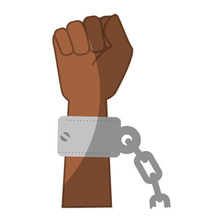 Kette der Sklaverei Icon Vektor-Illustration Grafik-Design Standard-Bild - 81727118