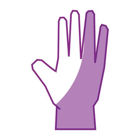 Menselijke hand icoon over witte achtergrond vector illustratie Stockfoto - 81726623