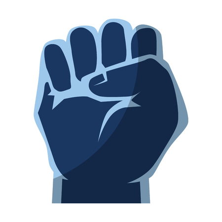 Clenched hand symbol icon vector illustration graphic design