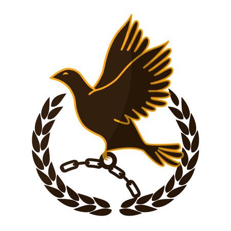 Kette der Sklaverei Icon Vektor-Illustration Grafik-Design Standard-Bild - 81727043