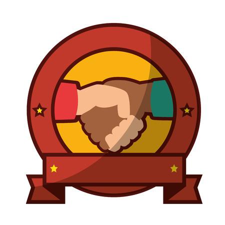 Diversity handshake symbol icon vector illustration graphic design