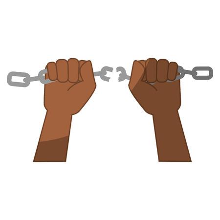 Kette der Sklaverei Icon Vektor-Illustration Grafik-Design Standard-Bild - 81733986