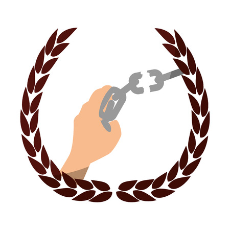 Chain of slavery icon vector illustration graphic design