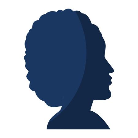 Afro diversiteit symbool pictogram vector illustratie grafisch ontwerp