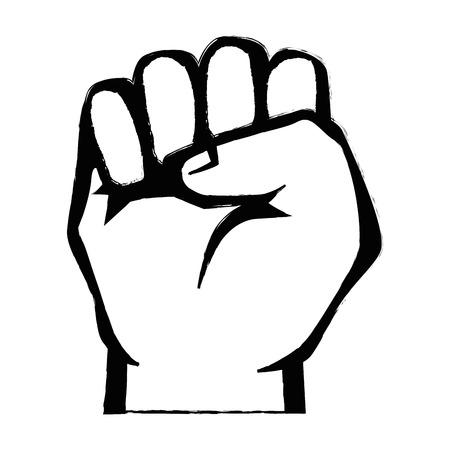 붙어 손으로 손으로 기호 아이콘 벡터 일러스트 그래픽 디자인