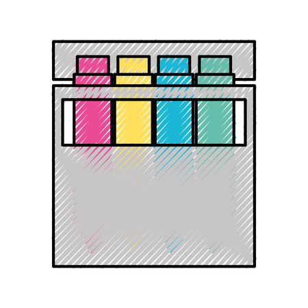 Combinar paleta de colores icono de ilustración vectorial diseño gráfico Foto de archivo - 81800909