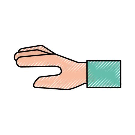 Menselijke hand cartoon pictogram vector illustratie ontwerp grafisch Stockfoto - 81798795