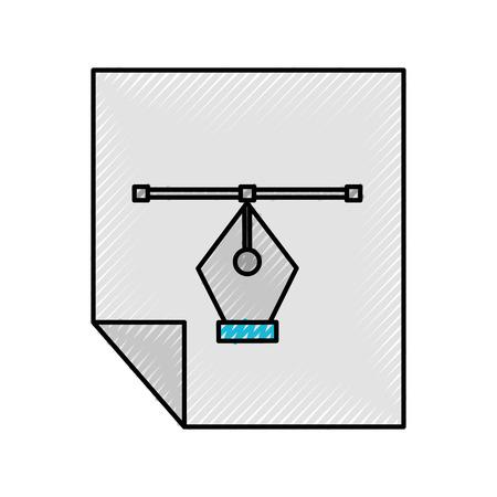 Sheets paper information icon vector illustration design graphic Ilustrace