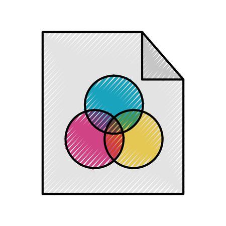 Sheets paper information icon vector illustration design graphic Ilustração