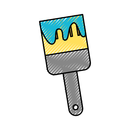 home decorating: Instrument brush work icon vector illustration design graphic