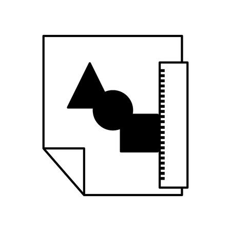 Carta carta informazioni icona illustrazione vettoriale illustrazione grafica Archivio Fotografico - 81798299