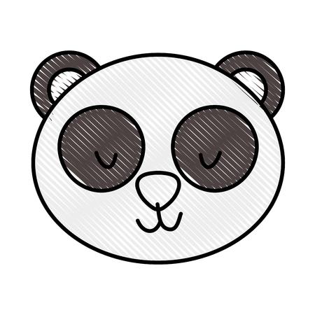 귀엽고 부드러운 곰 팬더 벡터 일러스트 레이션 디자인