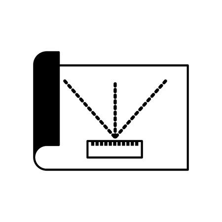 Blatt zeichnen Ideen Symbol Vektor-Illustration Design Grafik Standard-Bild - 81797448