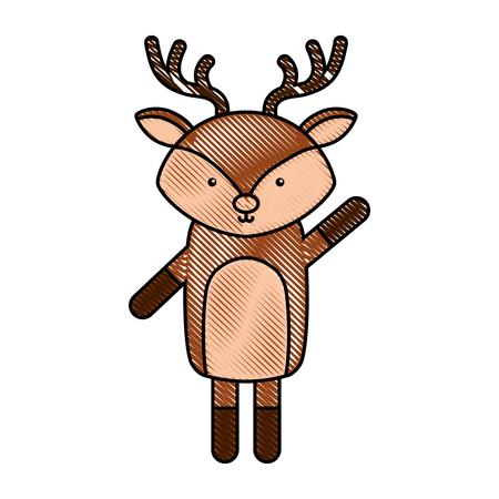 cute and tender reindeer vector illustration design Stock Vector - 81797449