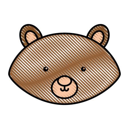 A cute and tender chipmunk vector illustration design.