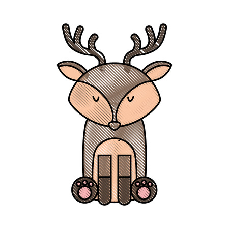 cute: cute and tender reindeer vector illustration design