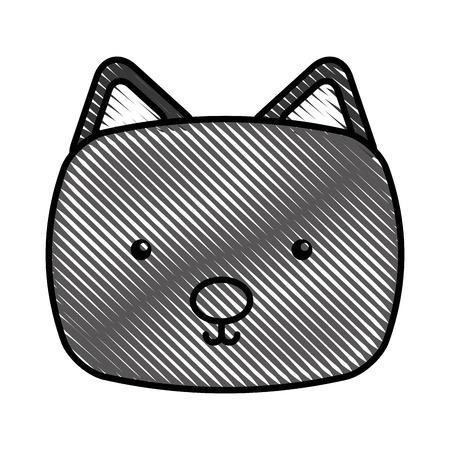 귀엽고 부드러운 고양이 벡터 일러스트 디자인 일러스트