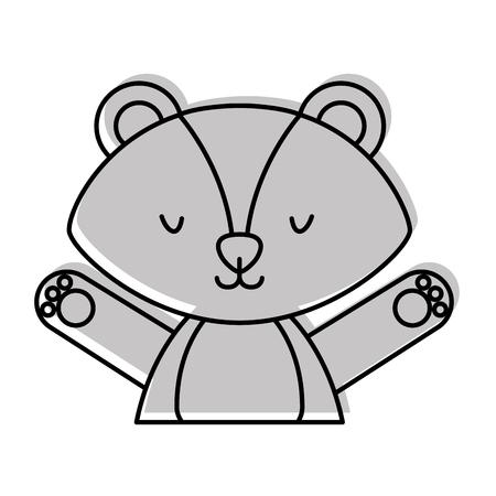 cute and tender Skunk vector illustration design