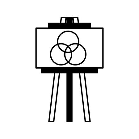 Ideeën plasma bord pictogram vector illustratie ontwerp grafisch