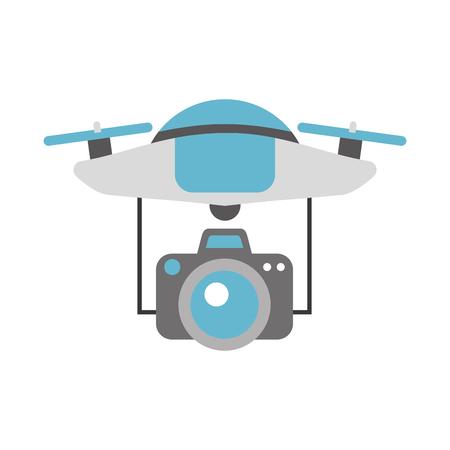 カメラ ベクトル イラスト デザインと技術の飛行ドローン