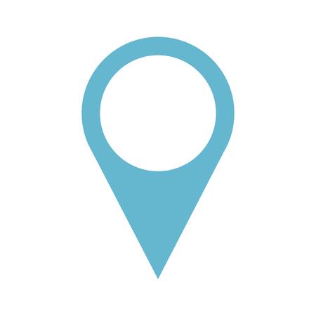 A pin pointer location icon vector illustration design.