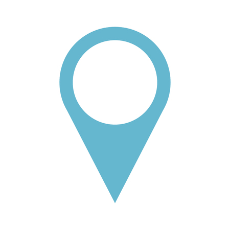 A pin pointer location icon vector illustration design.