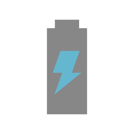 배터리 전원 아이콘 벡터 일러스트 디자인 격리 된.