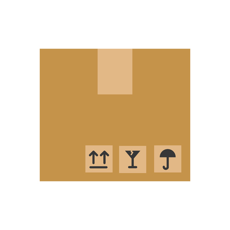 A box carton isolated icon vector illustration design.