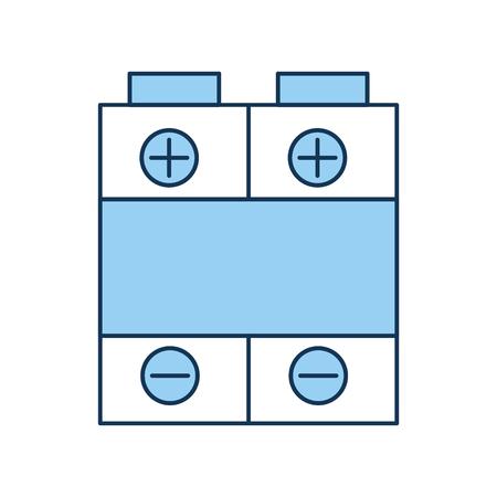 Een batterij power geïsoleerde pictogram vector illustratie ontwerp. Stock Illustratie