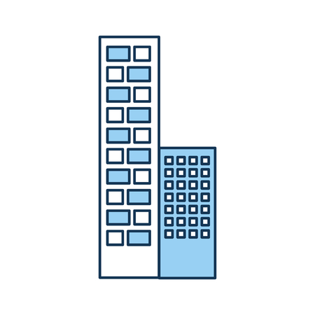A buildings cityscape scene icon vector illustration design. Ilustração