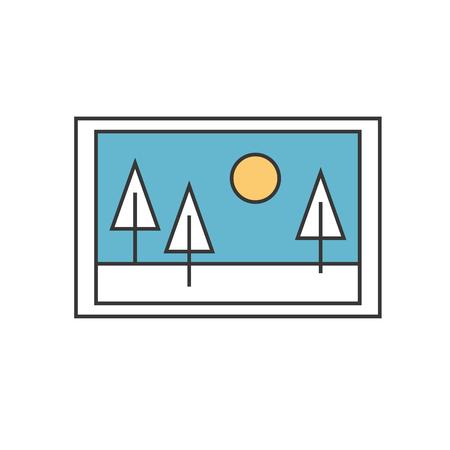 素晴らしい絵風景アイコン ベクトル イラスト デザイン グラフィック  イラスト・ベクター素材