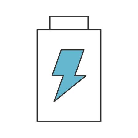 バッテリーの電力は、アイコン ベクトル イラスト デザインを分離しました。