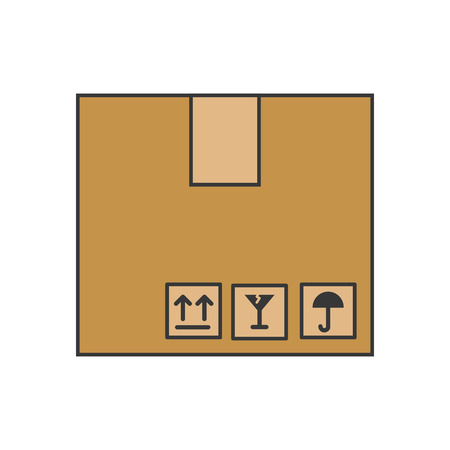 A box carton isolated icon vector illustration design.