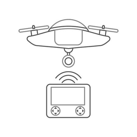 A Drone remote control icon vector illustration design.