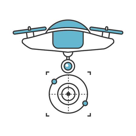 photography equipment: drone flying technology with camera vector illustration design Illustration
