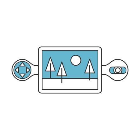 Drone remote control icon vector illustration design