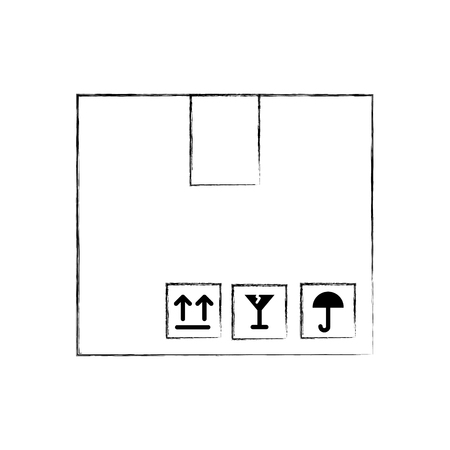 box carton isolated icon vector illustration design 版權商用圖片 - 81809275